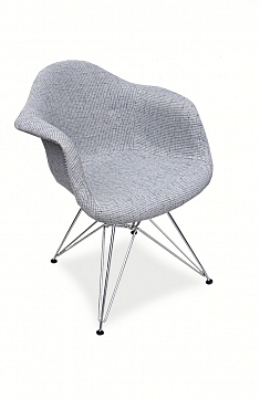 Стул DAR Patchwork Gray, Eames Style